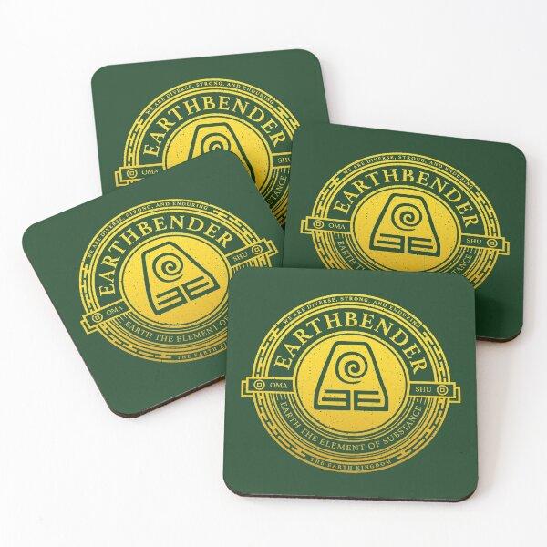 ATLA Earthbender Symbol: Avatar-Inspired Design Coasters (Set of 4)