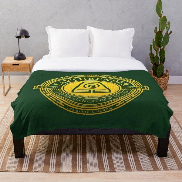 ATLA Earthbender Symbol: Avatar-Inspired Design Throw Blanket