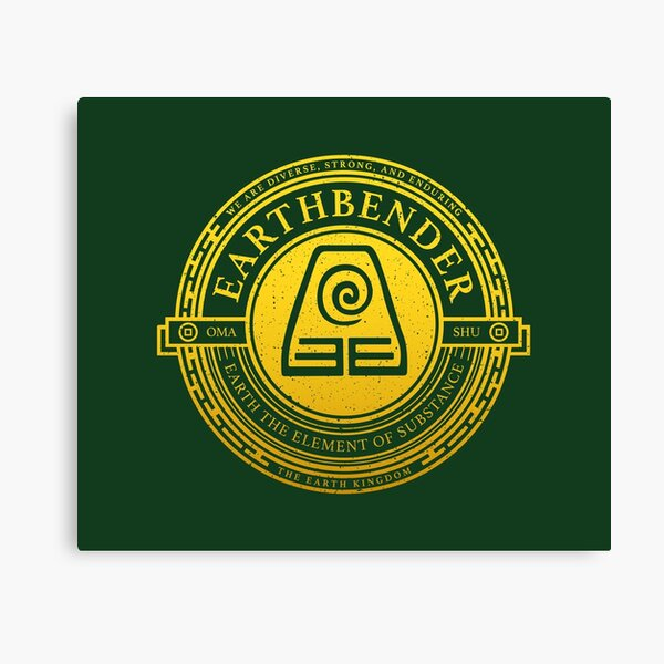 ATLA Earthbender Symbol: Avatar-Inspired Design Canvas Print