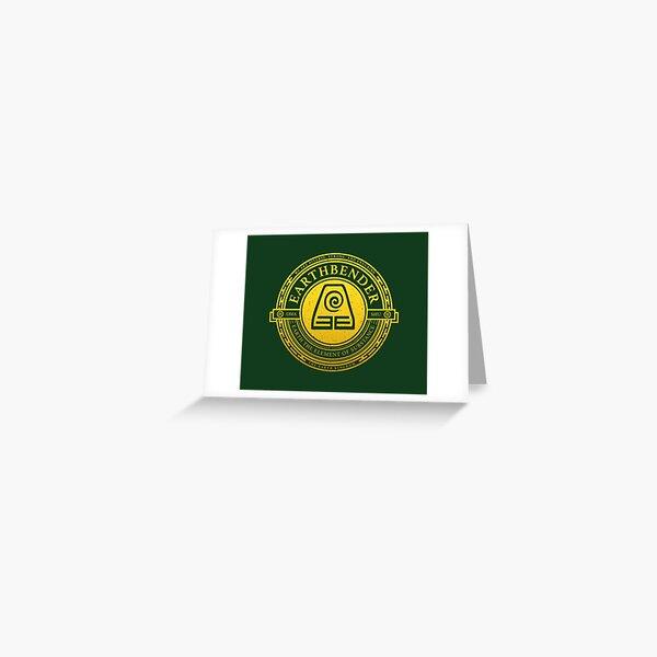 ATLA Earthbender Symbol: Avatar-Inspired Design Greeting Card