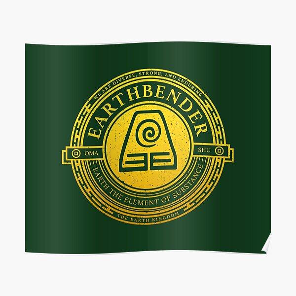 ATLA Earthbender Symbol: Avatar-Inspired Design Poster