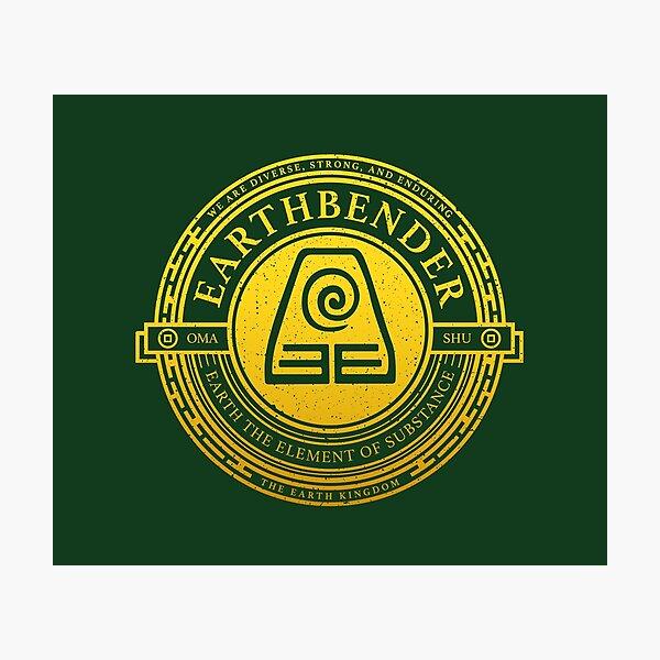 ATLA Earthbender Symbol: Avatar-Inspired Design Photographic Print