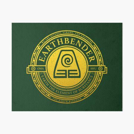 Earthbender Symbol: Avatar-Inspired Design v2 Art Board Print