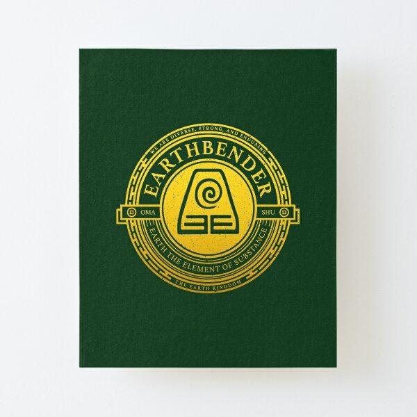 Earthbender Symbol: Avatar-Inspired Design v2 Canvas Mounted Print