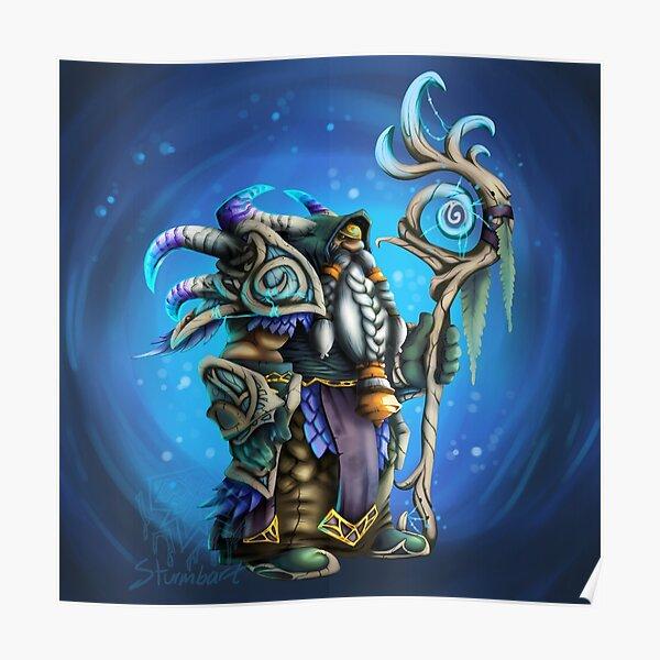Nightfae dwarf shaman Poster