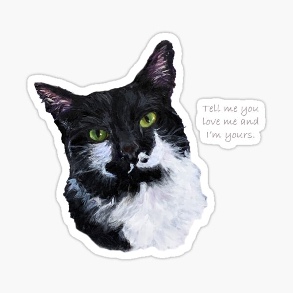 I'm Yours, Tuxedo Cat Sticker