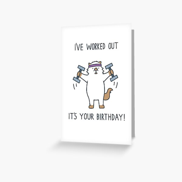 Work out Moo Greeting Card