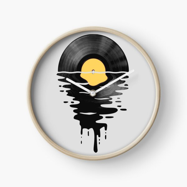 Vinyl LP Music Record Sunset  Yellow Clock