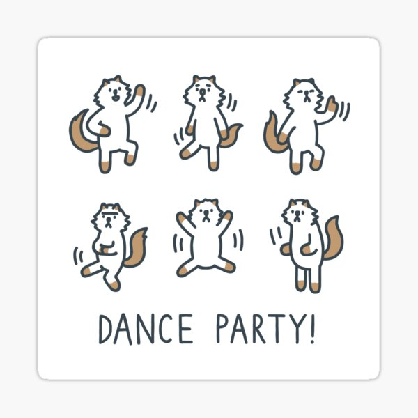 Dance Party Moo Sticker