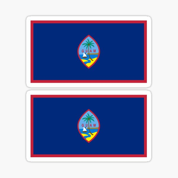 Sticker of Guam Map Flag for Bumper Travel Laptop Tablet Suitcase Hollidays