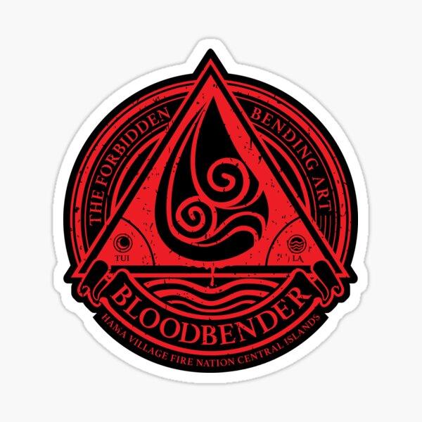Bloodbender Symbol: Avatar The Last Airbender-Inspired Design v2 Sticker