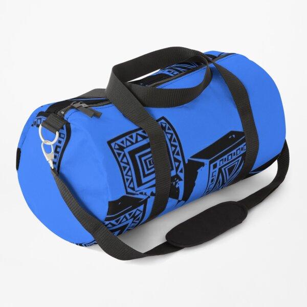 Geometric Chaos - Deep Electric Blue Duffle Bag