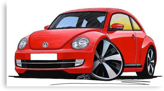 VW New Beetle (2012) Red by yeomanscarart