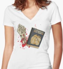 A Farewell! Women's Fitted V-Neck T-Shirt