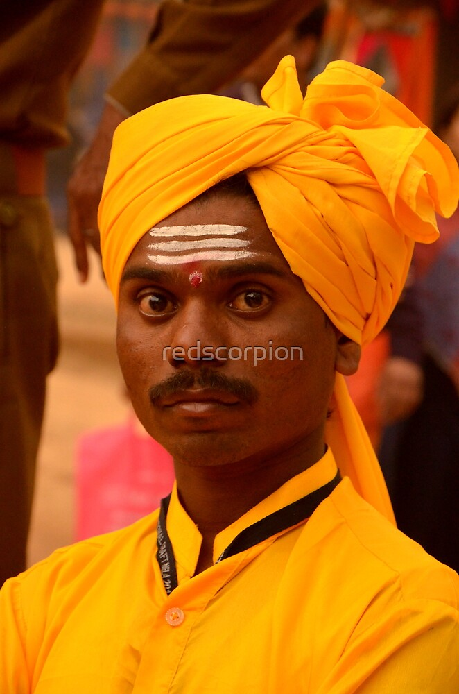 Ethnic Marathi musician by redscorpion