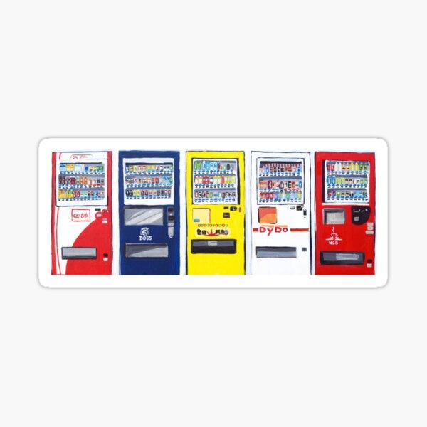 Primary Color Vending Machine Art Sticker