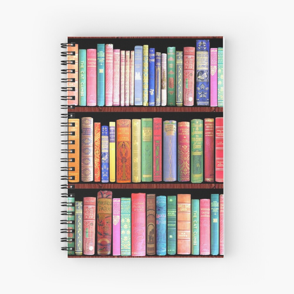 Bookworm Antique books Spiral Notebook