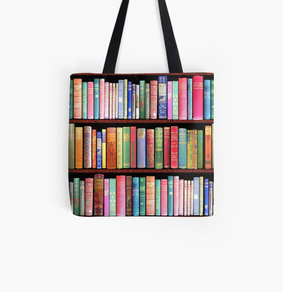 Bookworm Antique books All Over Print Tote Bag