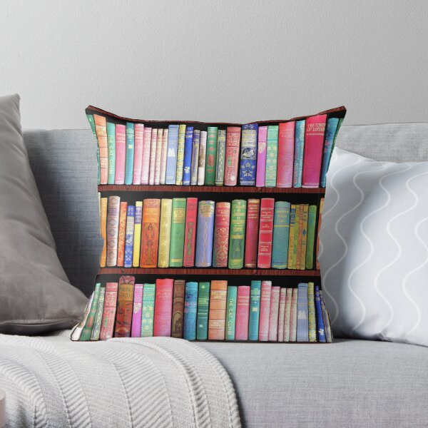 Bookworm Antique books Throw Pillow