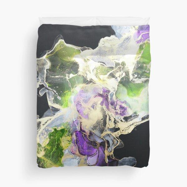 Grün lila Bettbezug
