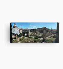 Panoramic View of Rome Forum and the Entire Ancient City Metal Print
