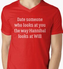 Date Someone Who - Hannigram Mens V-Neck T-Shirt