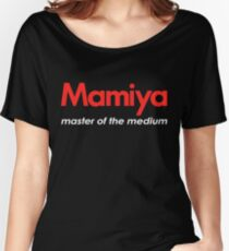 Mamiya Photography Logo Women's Relaxed Fit T-Shirt