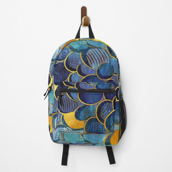 Abstract deep blue Backpack