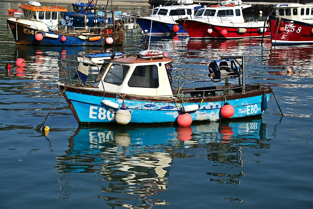 Local Fishing Boats ~ Lyme Regis by Susie Peek