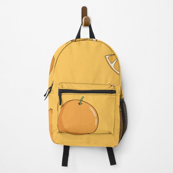 Seamless pattern orange fruit with colored doodle style Backpack