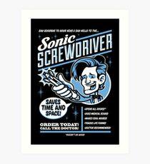 Sonic Screwdriver Ad Art Print
