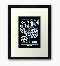 Sonic Screwdriver Ad Framed Print