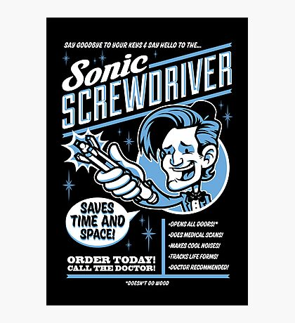 Sonic Screwdriver Ad Photographic Print