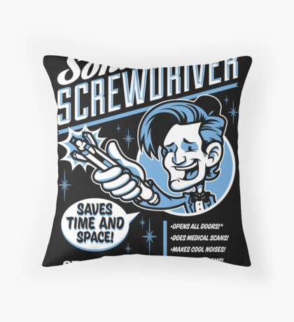 Sonic Screwdriver Ad Throw Pillow