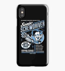 Sonic Screwdriver Ad iPhone Case/Skin