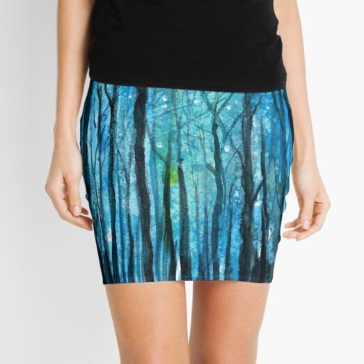 Forest in the night Mini Skirt