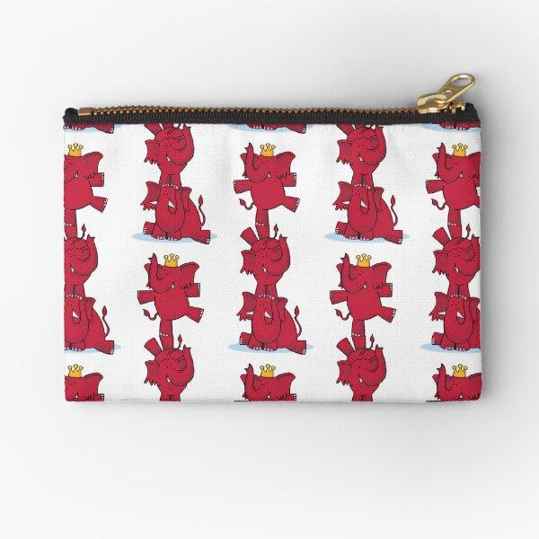 We ALL love red elephants! Zipper Pouch