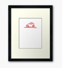 Smart 4 Two Side Red Framed Print