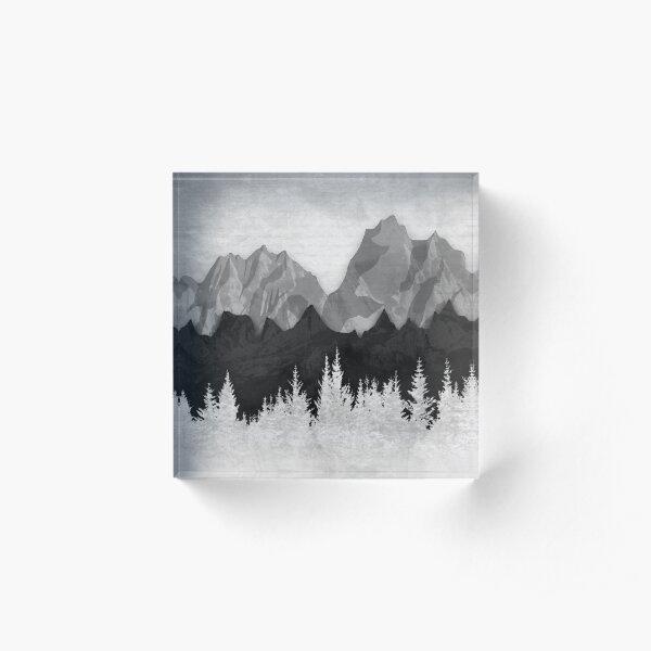 Layered Landscapes Acrylic Block