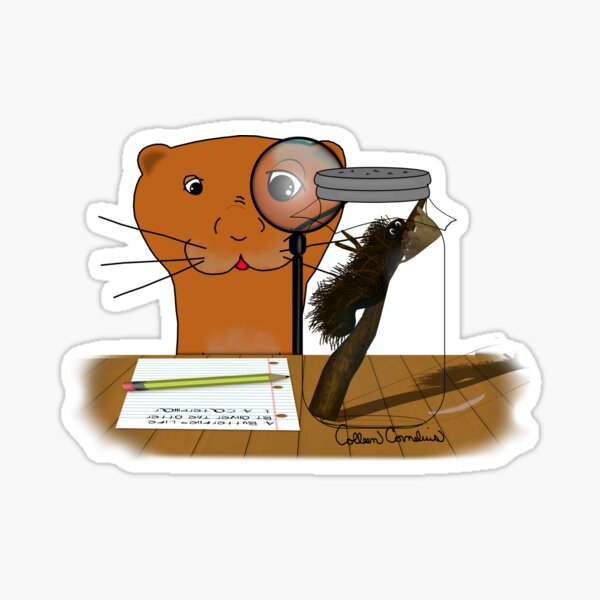 Homeschooling Oliver The Otter - The Caterpillar Glossy Sticker