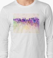 Singapore skyline in watercolor background T-Shirt