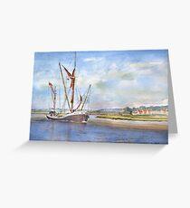 Thames Barge at Maldon Greeting Card