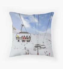 Ski Lift  Throw Pillow