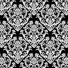 Black & White Damask Pattern by cinn