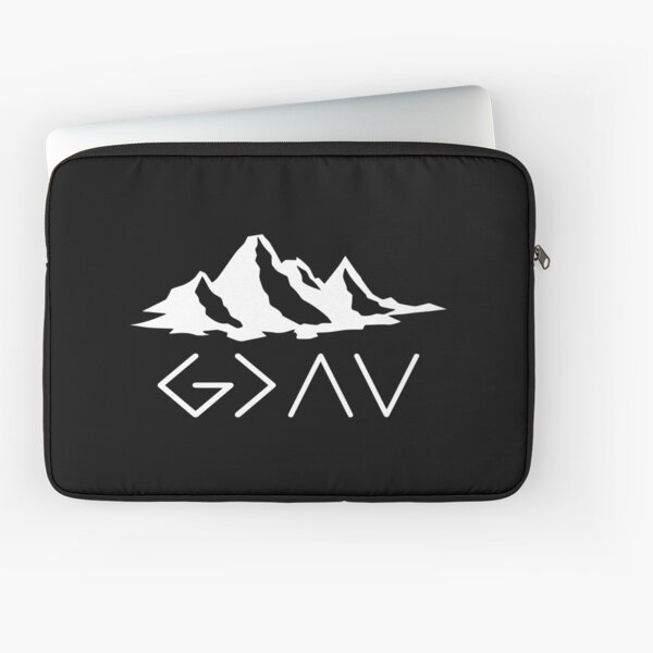 God is Greater Than the Highs and Lows Laptop Sleeve