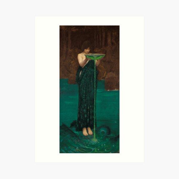 Circe invidiosa  Waterhouse Pre-Raphaelite Art Print