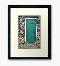 Green Door Framed Print