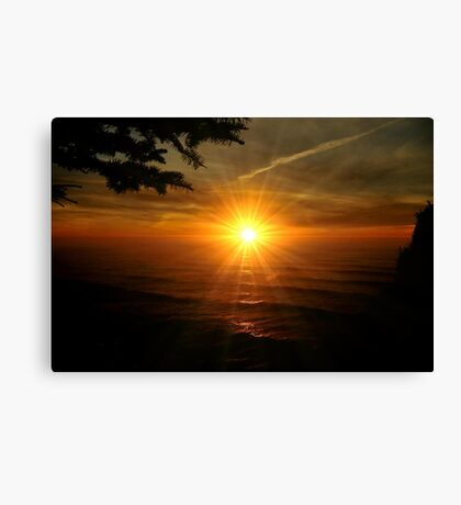 SUPER SUNSET OREGON COAST Canvas Print