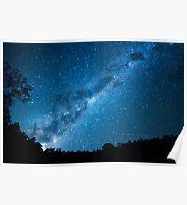 Maroon Dam Milky Way Poster