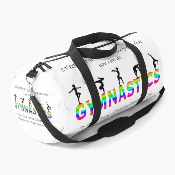 Gymnastics Inspirational Quote  Duffle Bag